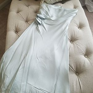 Banana Republic Ice Blue Silk Strapless Dress